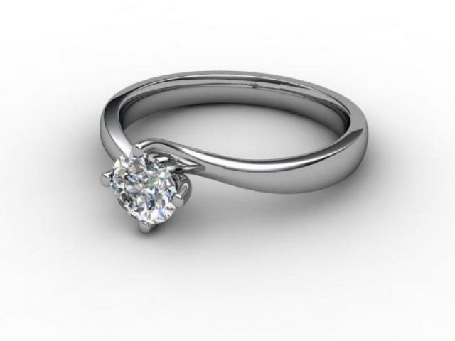 Certificated Round Diamond Solitaire Engagement Ring in Platinum