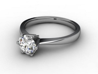 Certificated Round Diamond Solitaire Engagement Ring in Platinum-01-0100-2240