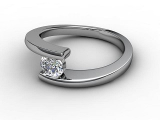 Certificated Round Diamond Solitaire Engagement Ring in Platinum-01-0100-2248