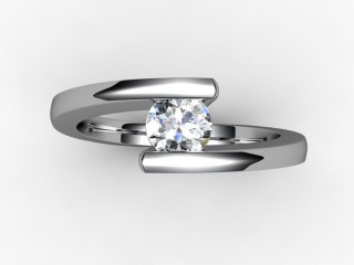 Certificated Round Diamond Solitaire Engagement Ring in Platinum - 9