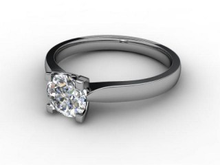 Certificated Round Diamond Solitaire Engagement Ring in Platinum-01-0100-2293
