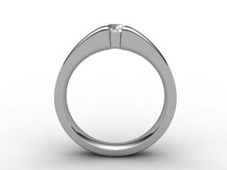 Certificated Round Diamond Solitaire Engagement Ring in Platinum - 6