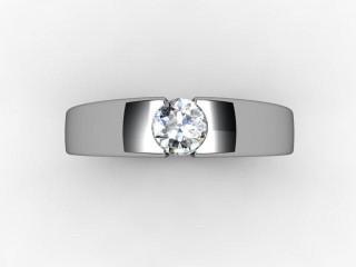 Certificated Round Diamond Solitaire Engagement Ring in Platinum - 12