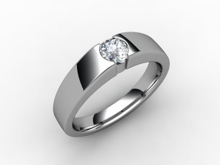 Certificated Round Diamond Solitaire Engagement Ring in Platinum - 15