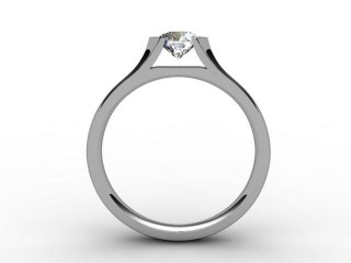 Certificated Round Diamond Solitaire Engagement Ring in Platinum - 3