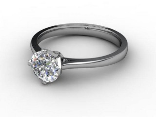 Certificated Round Diamond Solitaire Engagement Ring in Platinum-01-0100-2964
