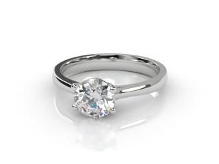 Certificated Round Diamond Solitaire Engagement Ring in Platinum-01-0100-2970