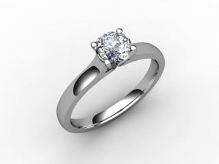 Certificated Round Diamond Solitaire Engagement Ring in Platinum - 12