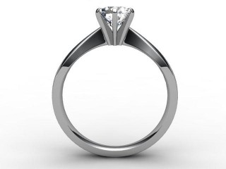 Certificated Round Diamond Solitaire Engagement Ring in Platinum - 6