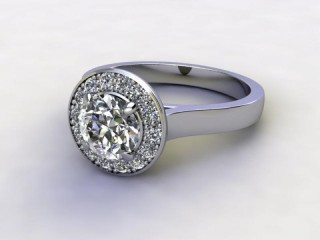 Certificated Round Diamond in Platinum