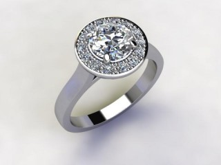 Certificated Round Diamond in Platinum - 12