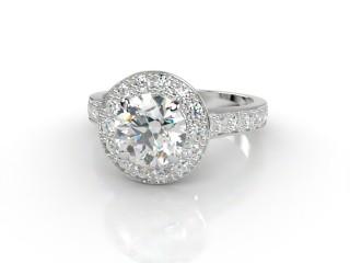 Certificated Round Diamond in Platinum-01-0100-8945