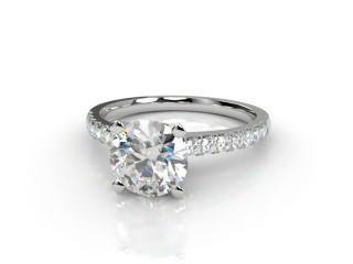 Certificated Round Diamond in Platinum-01-0100-9207