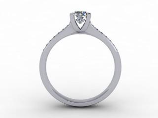 Certificated Round Diamond in Platinum - 3