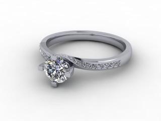 Certificated Round Diamond in Platinum-01-0100-9212