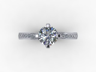 Certificated Round Diamond in Platinum - 9