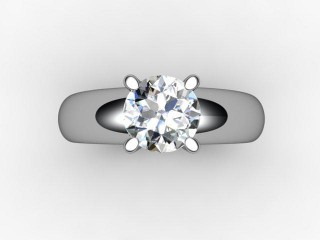 Certificated Round Diamond Solitaire Engagement Ring in Platinum - 9