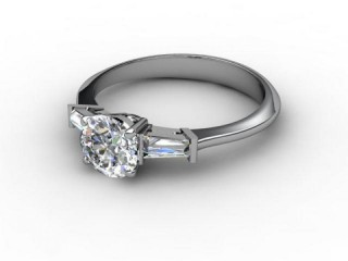 Certificated Round Diamond in Platinum-01-0102-3043