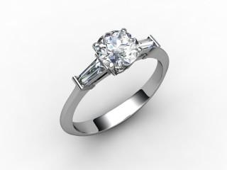 Certificated Round Diamond in Platinum - 15
