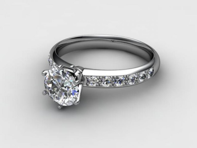 Certificated Round Diamond in Platinum - Main Picture