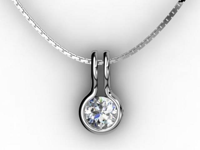 Designer Pendant,  Platinum - Round