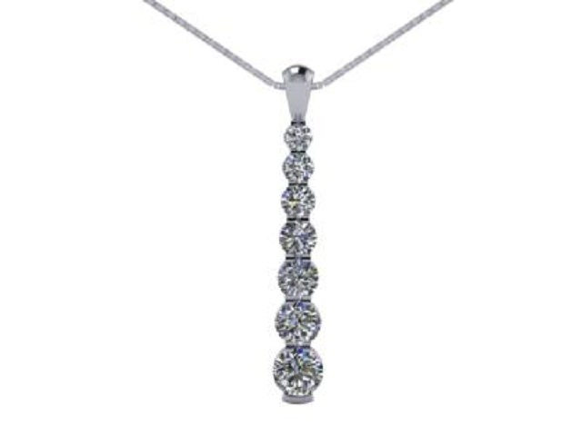 Designer Diamond Pendant and Chain,  Platinum