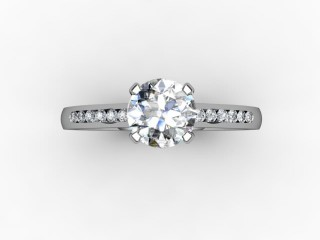 Certificated Round Diamond in Platinum - 9