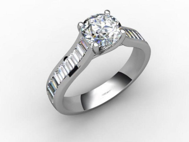 Certificated Round Diamond in Platinum