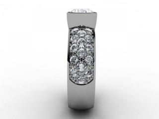 Certificated Round Diamond in Platinum - 6