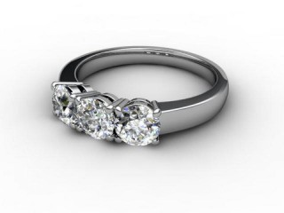 Trilogy Platinum Round Brilliant-Cut Diamond-01-0133-1003