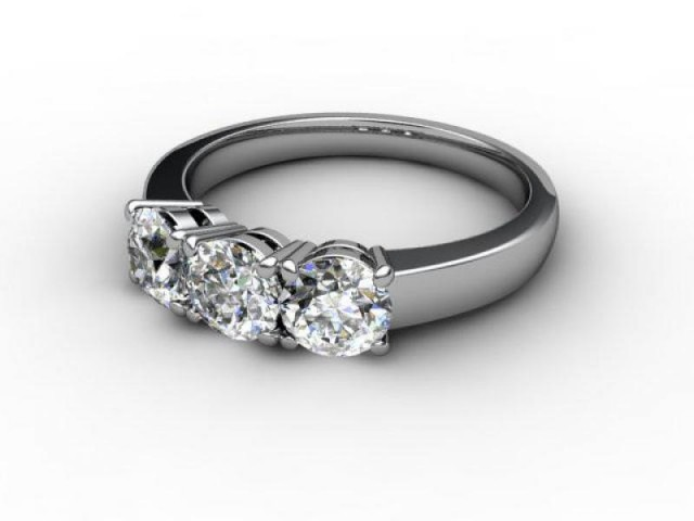Trilogy Platinum Round Brilliant-Cut Diamond