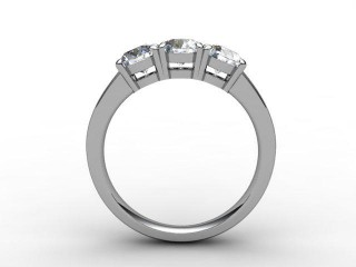 Trilogy Platinum Round Brilliant-Cut Diamond - 6