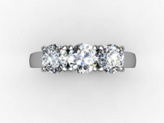 Trilogy Platinum Round Brilliant-Cut Diamond - 12