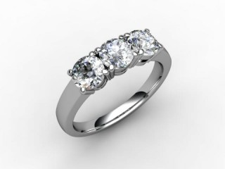 Trilogy Platinum Round Brilliant-Cut Diamond - 15