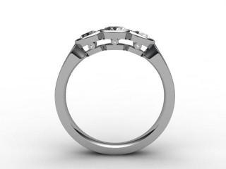 Trilogy Platinum Round Brilliant-Cut Diamond - 6