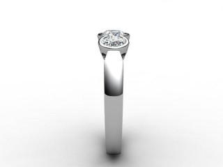 Trilogy Platinum Round Brilliant-Cut Diamond - 9