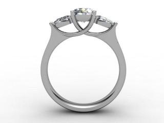 Trilogy Platinum Round & Pearshape Diamond - 6