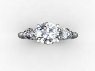 Trilogy Platinum Round & Pearshape Diamond - 12