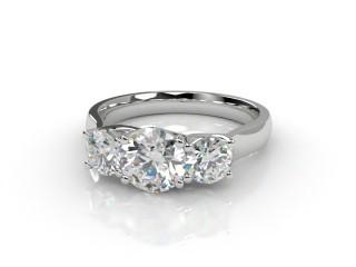 Trilogy Platinum Round Brilliant-Cut Diamond