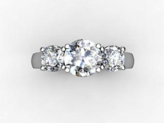 Trilogy Platinum Round Brilliant-Cut Diamond - 12