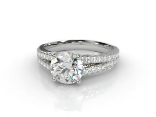 Certificated Round Diamond in Platinum-01-0152-8908