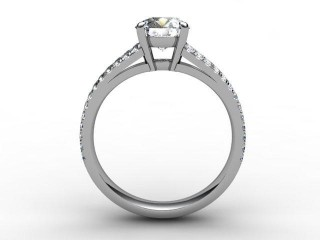 Certificated Round Diamond in Platinum - 3