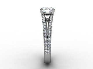 Certificated Round Diamond in Platinum - 6