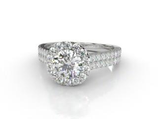 Certificated Round Diamond in Platinum-01-0154-8955