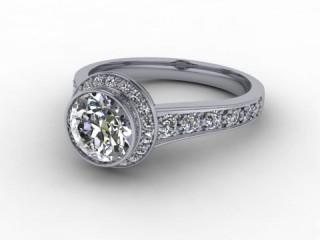 Certificated Round Diamond in Platinum-01-0161-8006