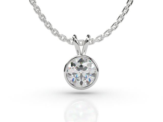 Certified Round Diamond Pendant