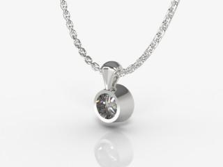 Certified Round Diamond Pendant  - 3