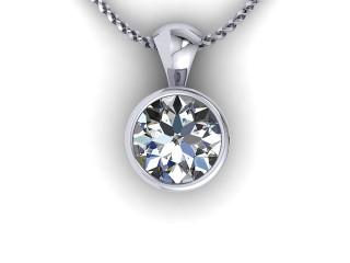 Certified Round Diamond Pendant  - 9