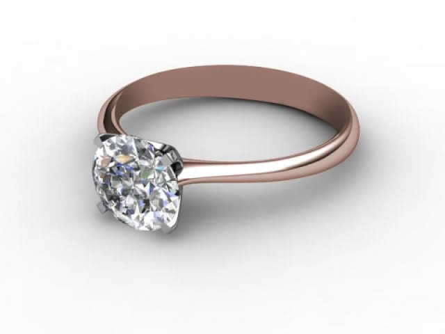 Certificated Round Diamond Solitaire Engagement Ring in 18ct. Rose Gold