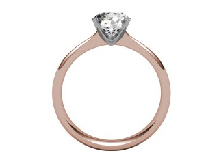 Certificated Round Diamond Solitaire Engagement Ring in 18ct. Rose Gold - 3
